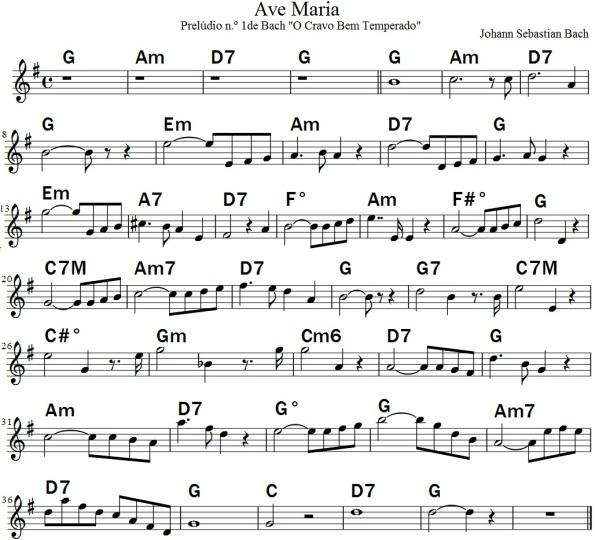 Melodia com harmonia cifrada