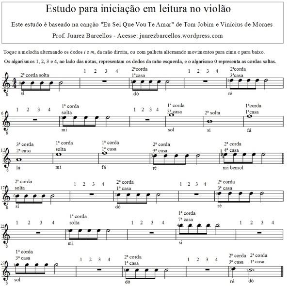 Estudo para iniciação em partitura no violão - completo