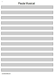 Pauta Musical Imagen