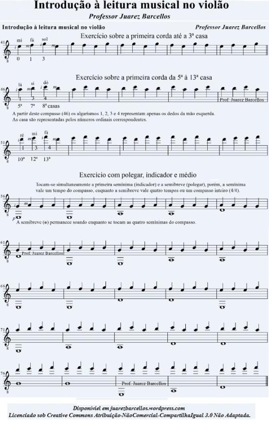 Introdução à leitura musical no violão p 2
